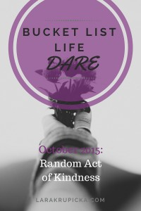 October 2015 Bucket List Life Dare