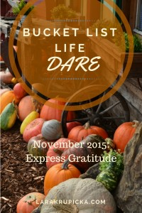 November 2015 Bucket List Life Dare: Express Gratitude