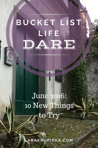 June 2016 Bucket List Life Dare
