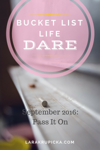 September 2016 Bucket List Life Dare